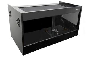 black vivarium cabinet